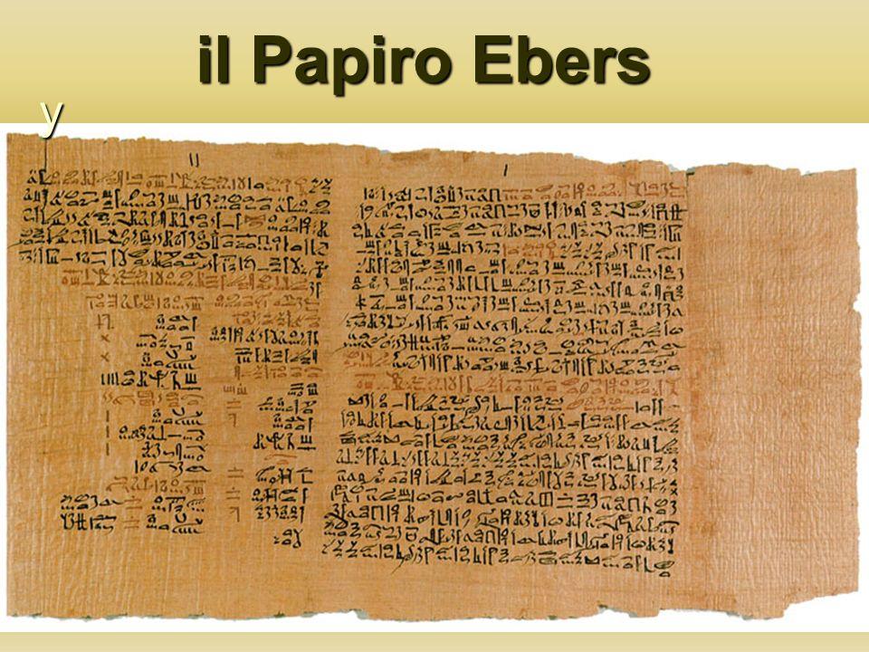 il Papiro Ebers y