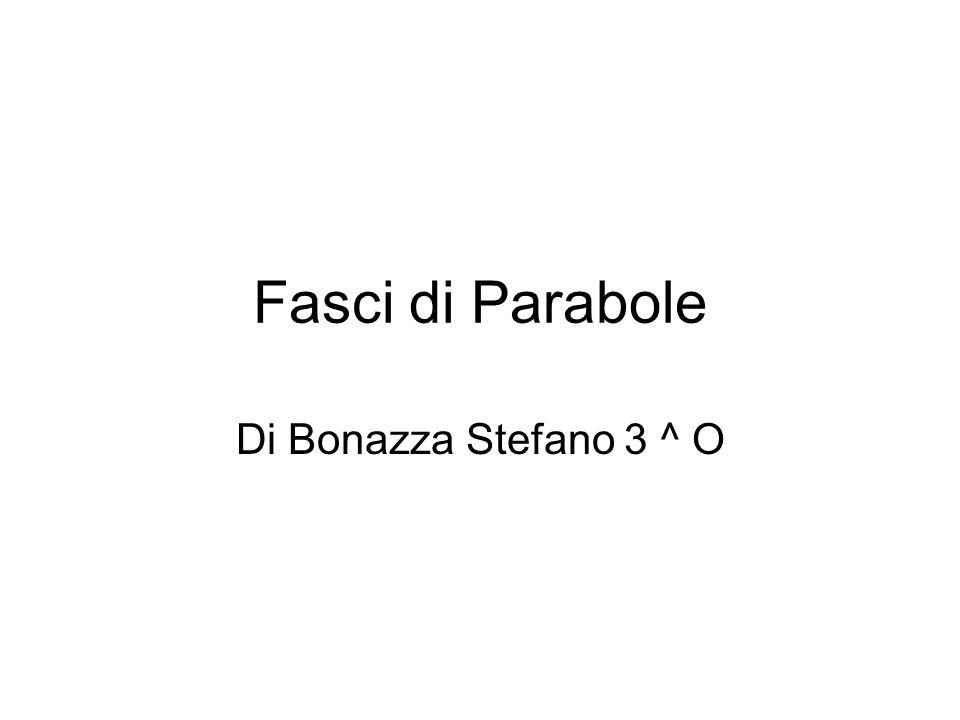 Fasci di Parabole Di Bonazza Stefano 3 ^ O