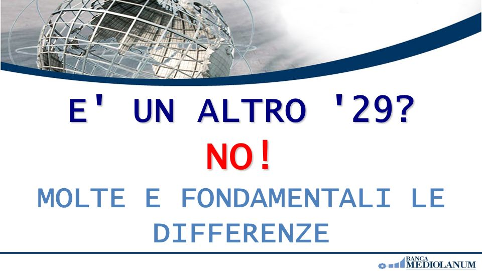 E UN ALTRO 29 NO! MOLTE E FONDAMENTALI LE DIFFERENZE