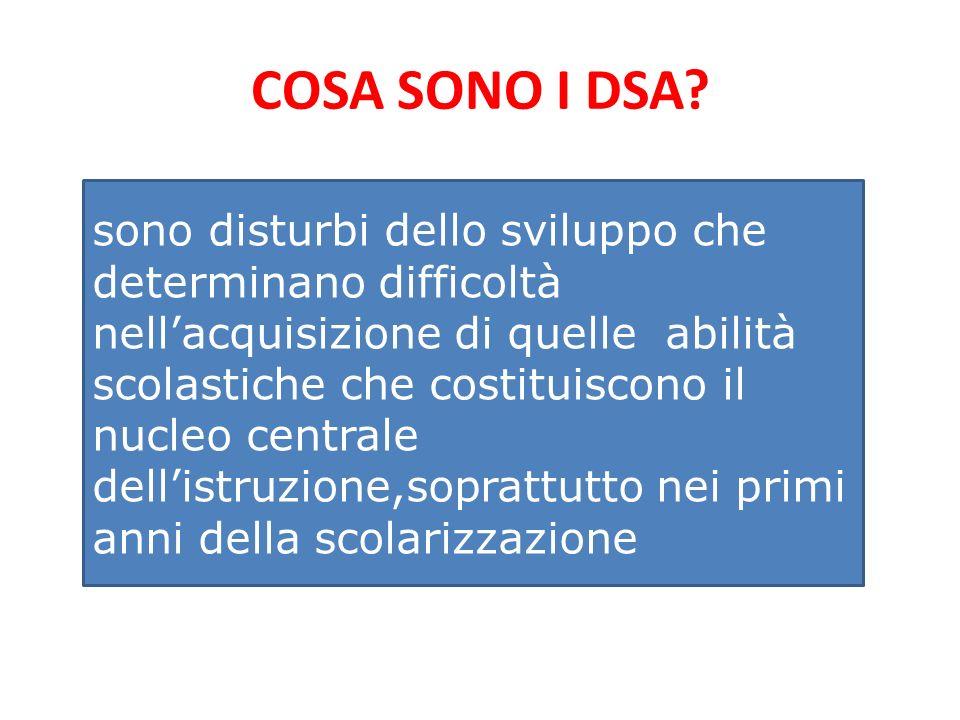 COSA SONO I DSA.