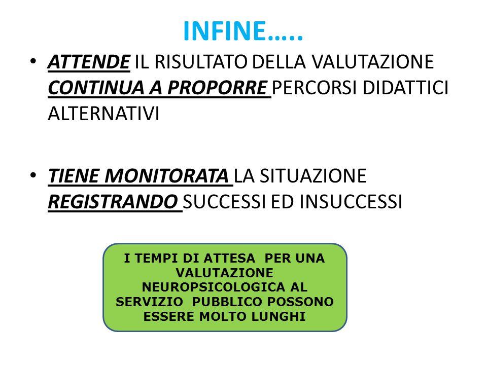 INFINE…..