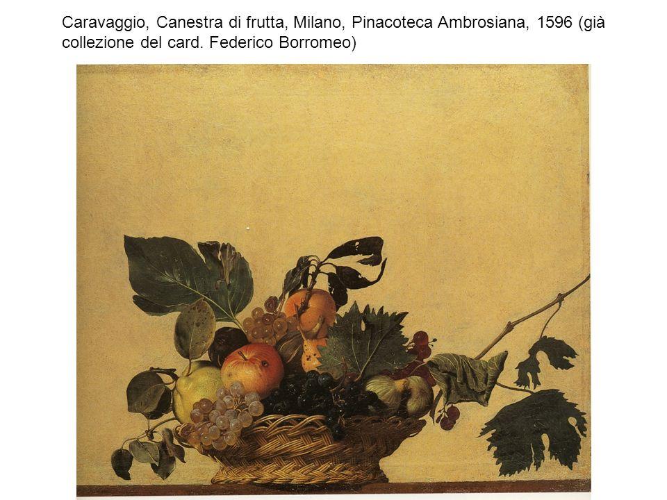 Caravaggio, Bacchino malato, Giovane con canestro di frutta, Roma, Galleria Borghese