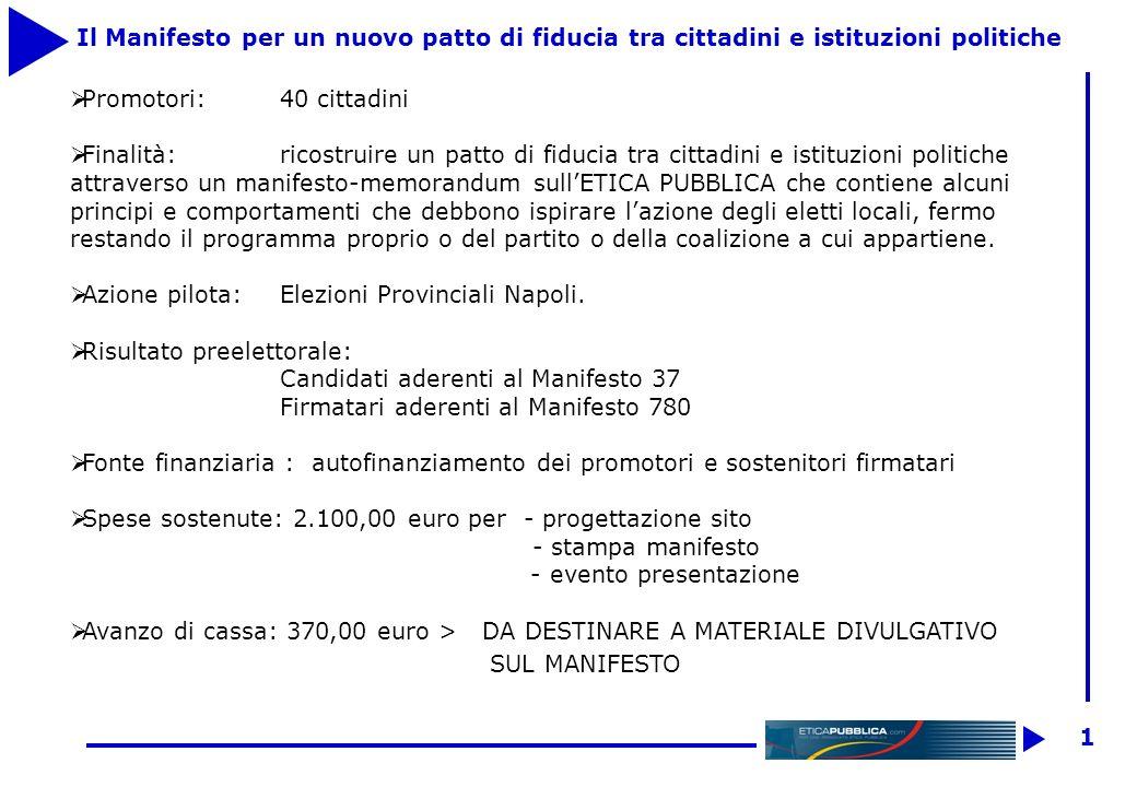 Via Casciaro 32 P Napoli www.eticapubblica.com BILANCIO 2004 E PREVISIONI 2005