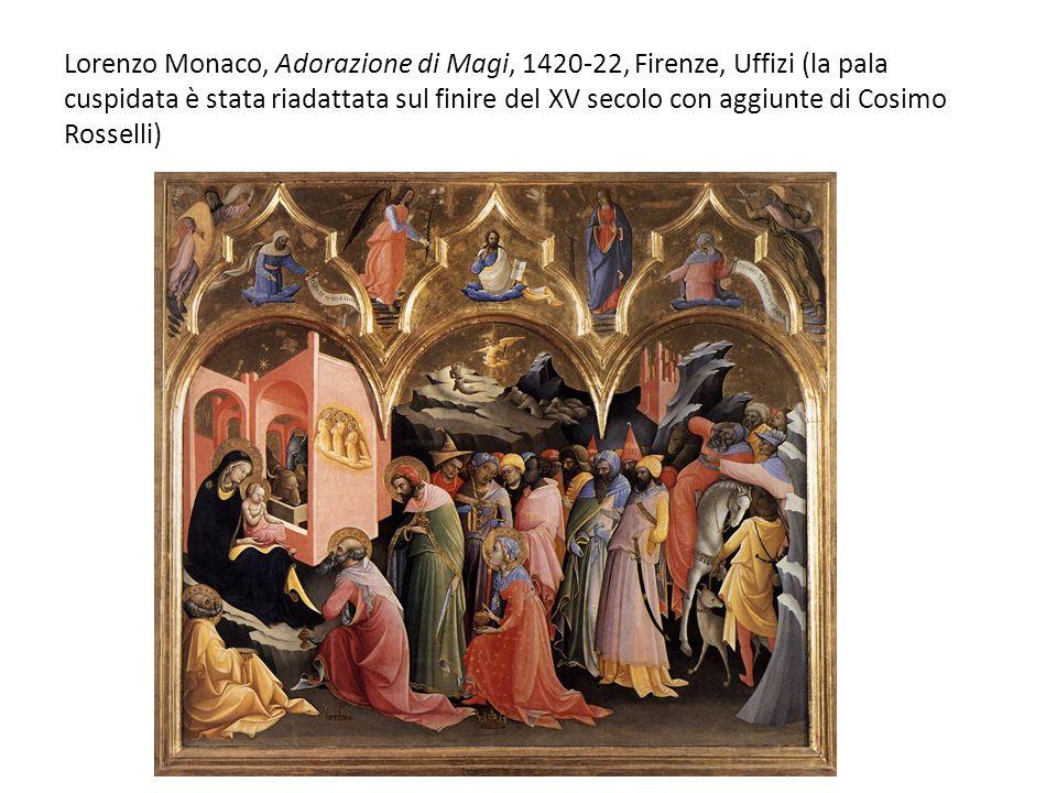 Lorenzo Monaco, Adorazione di Magi, 1420-22, Firenze, Uffizi (la pala cuspidata è stata riadattata sul finire del XV secolo con aggiunte di Cosimo Ros