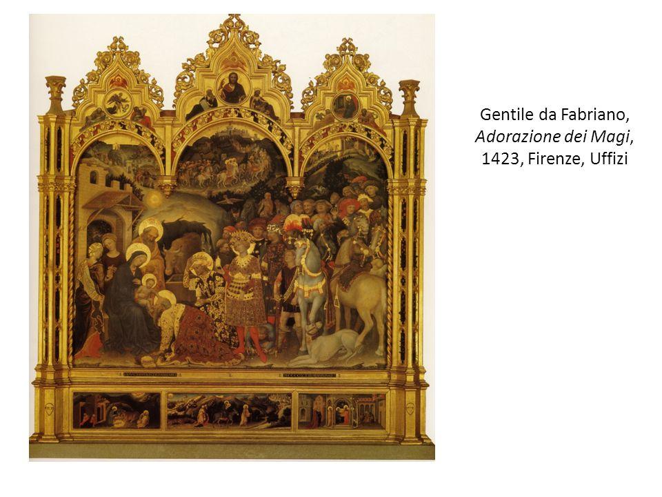 Gentile da Fabriano, Adorazione dei Magi, 1423, Firenze, Uffizi