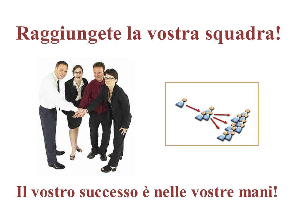 Raggiungete la vostra squadra! Il vostro successo è nelle vostre mani!