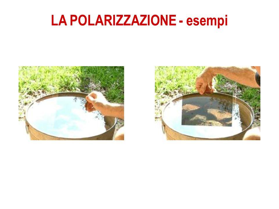 LA POLARIZZAZIONE - esempi Senza filtro polarizzato Con filtro polarizzato