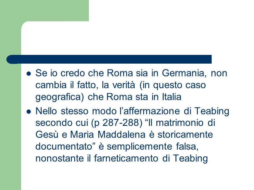 Se io credo che Roma sia in Germania, non cambia il fatto, la verità (in questo caso geografica) che Roma sta in Italia Nello stesso modo laffermazion