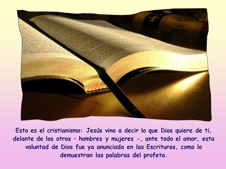 Jesús cita aquí una frase del profeta Oseas, y este hecho demuestra que le gusta el concepto y el contenido: es de hecho la norma según la cual Él mis