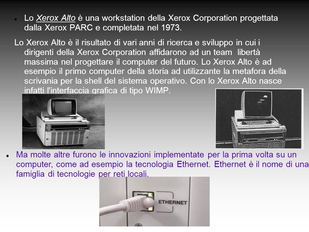 Lo Xerox Alto è una workstation della Xerox Corporation progettata dalla Xerox PARC e completata nel 1973. Lo Xerox Alto è il risultato di vari anni d