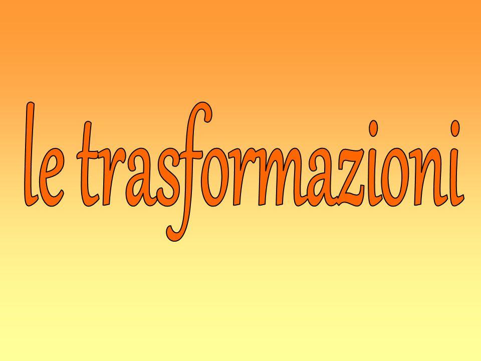 Una trasformazione geometrica è una corrispondenza biunivoca che associa ad ogni punto del piano un altro punto del piano stesso.