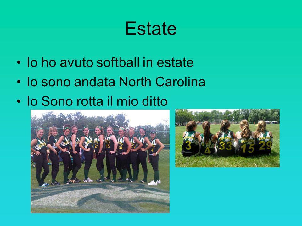 Estate Io ho avuto softball in estate Io sono andata North Carolina Io Sono rotta il mio ditto