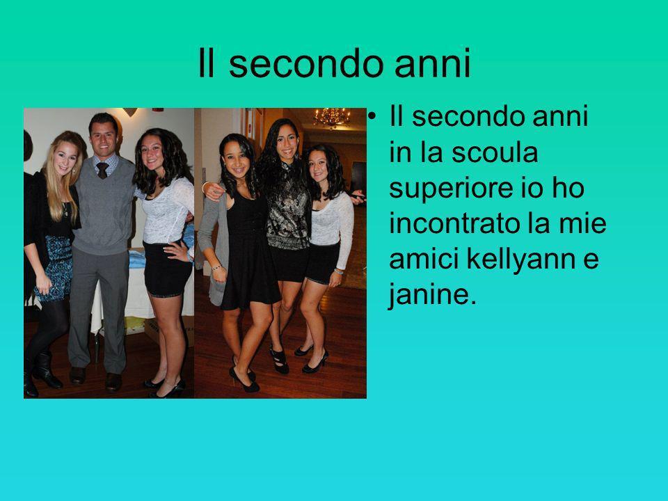 Il secondo anni Il secondo anni in la scoula superiore io ho incontrato la mie amici kellyann e janine.