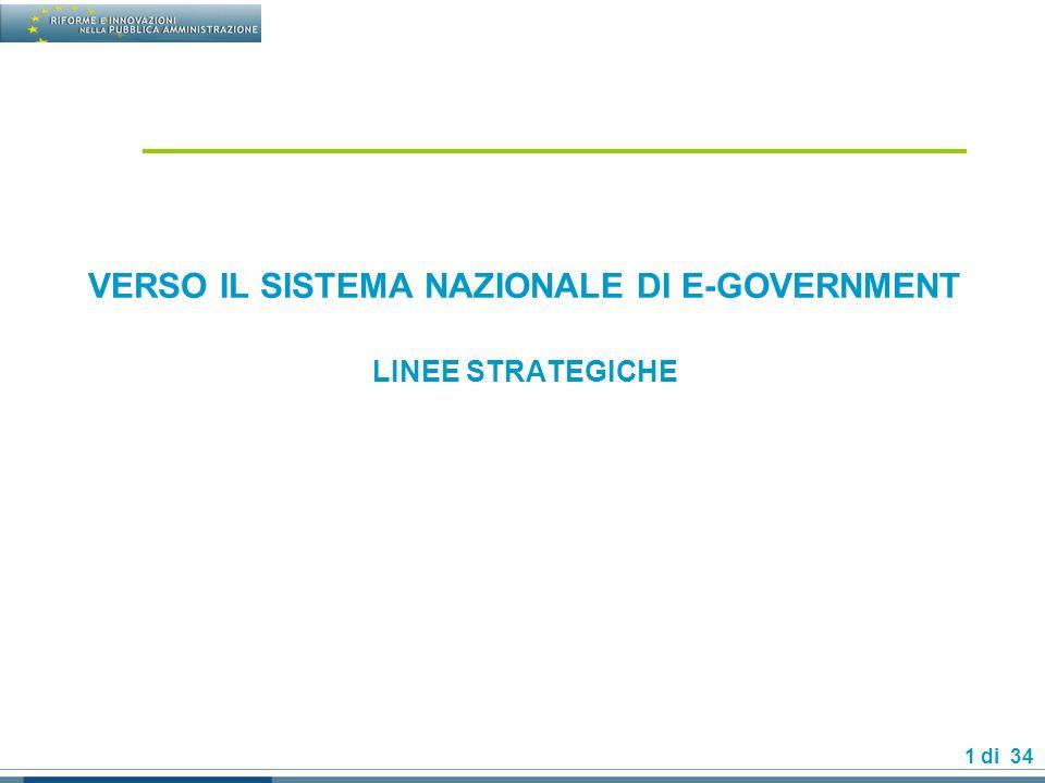 2 di 34 SOMMARIO Lo stato attuale dellinnovazione nella PA Centrale La strategia per favorire linnovazione Gli obiettivi Le azioni La governance delle-government
