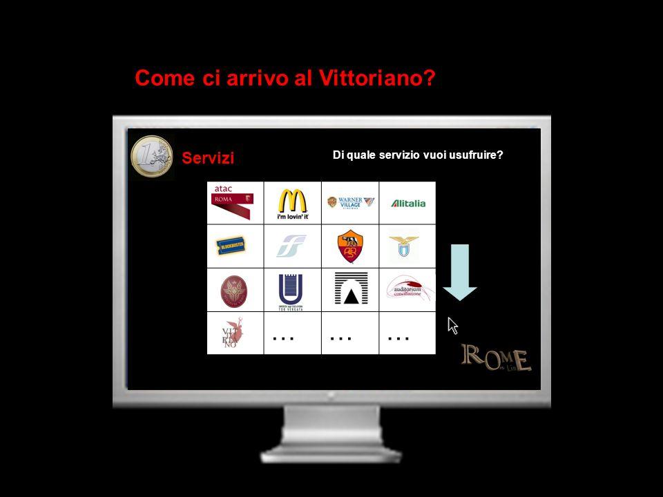……… Di quale servizio vuoi usufruire? Come ci arrivo al Vittoriano?