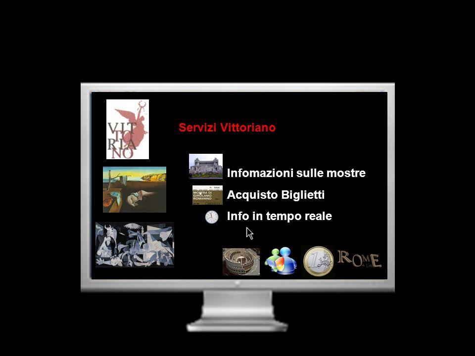 Servizi Vittoriano Infomazioni sulle mostre Acquisto Biglietti Info in tempo reale