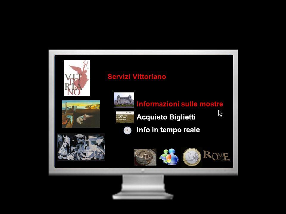 Servizi Vittoriano Informazioni sulle mostre Acquisto Biglietti Info in tempo reale