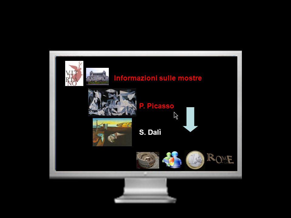 Informazioni sulle mostre P. Picasso S. Dalì