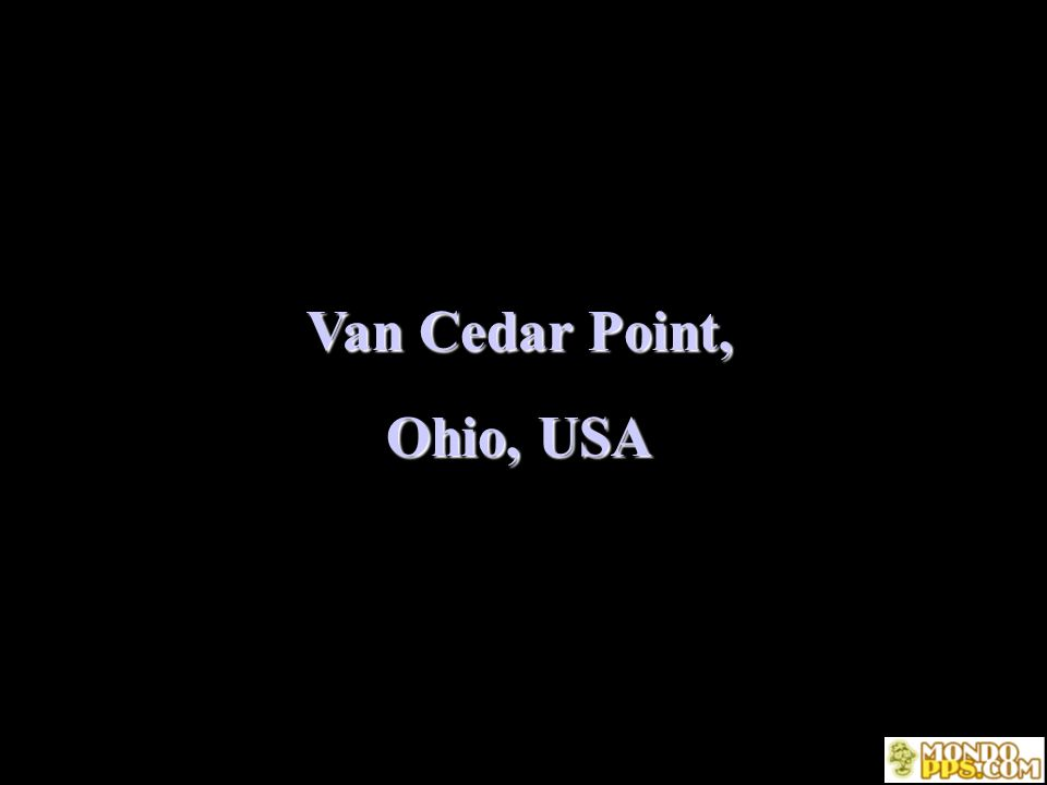 Van Cedar Point, Ohio, USA