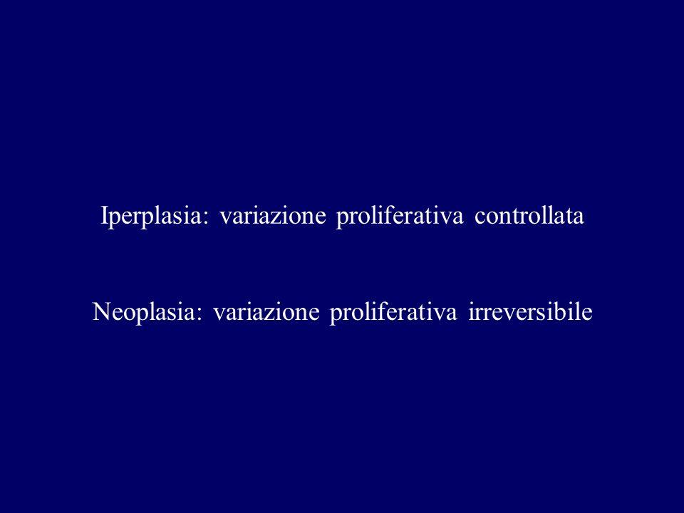 Meccanismi di crescita Neoplasie Riduzione della durata del ciclo cellulare Aumento della frazione proliferativa Riduzione apoptosi