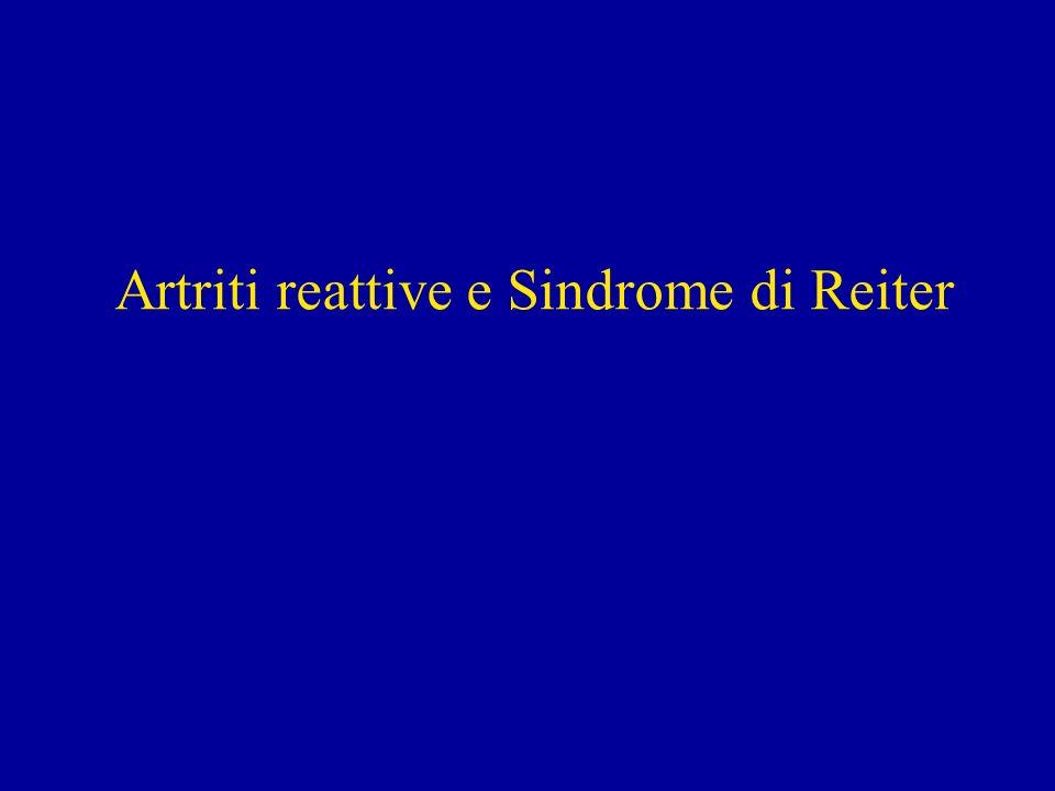 Artriti reattive e Sindrome di Reiter