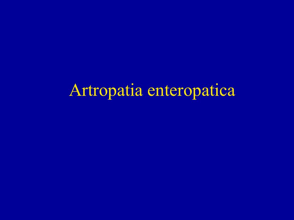 Artropatia enteropatica