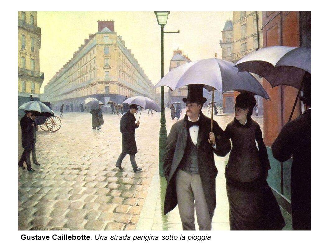 Gustave Caillebotte. Una strada parigina sotto la pioggia