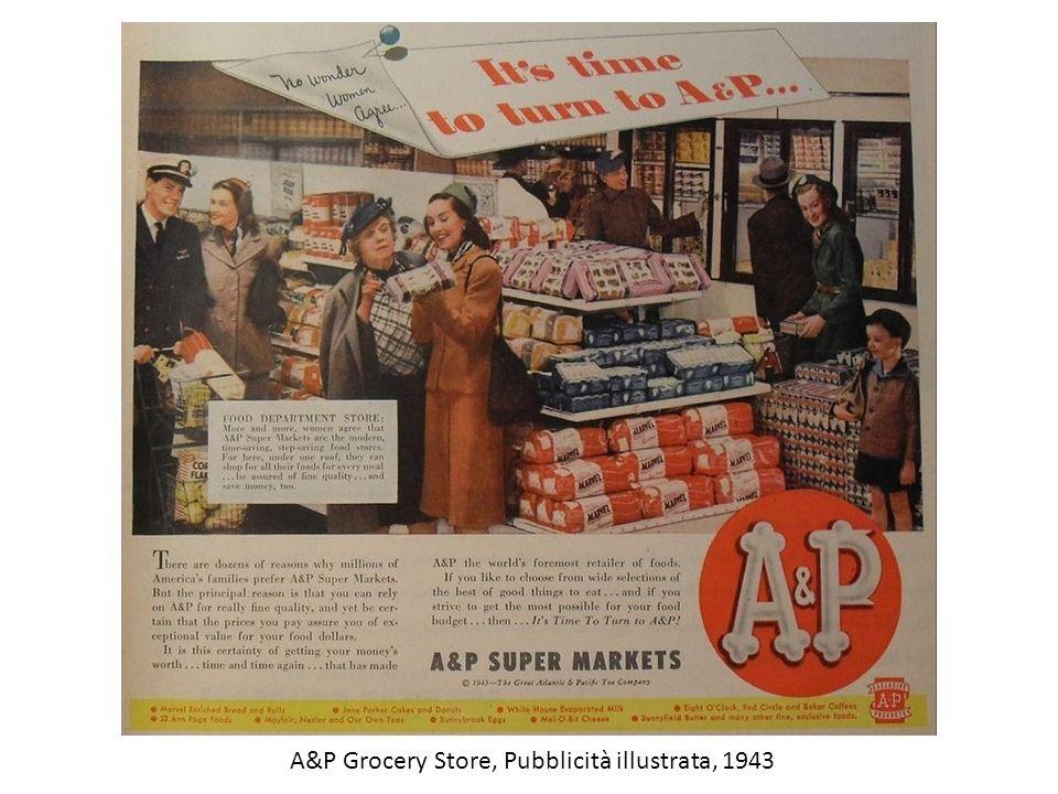 A&P Grocery Store, Pubblicità illustrata, 1943
