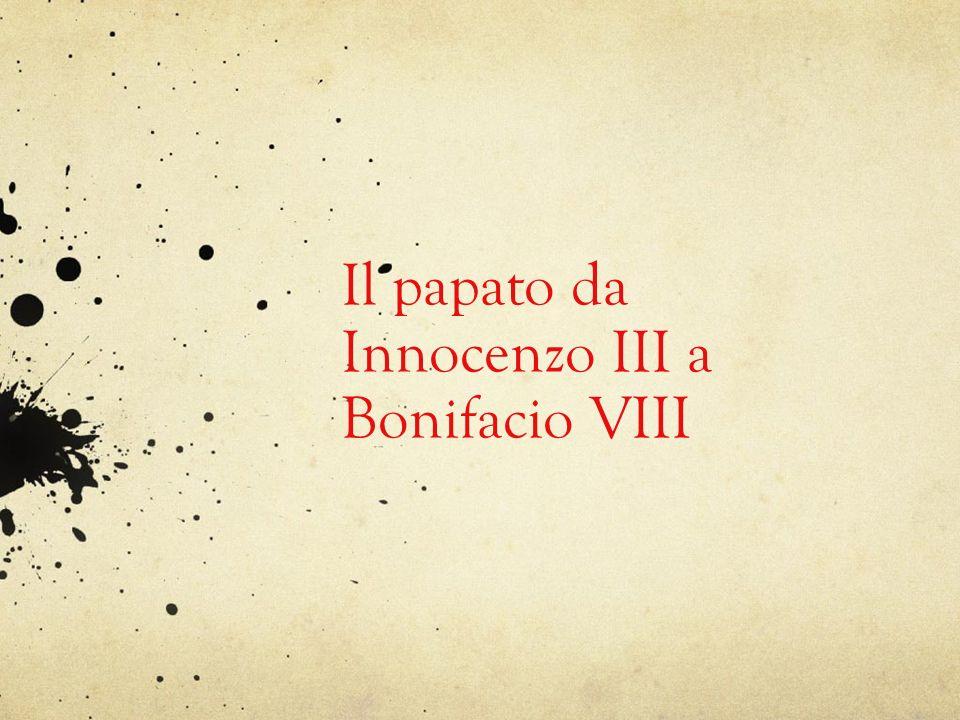 Giudizio sintetico Il processo iniziato sotto il governo di Gregorio VII (1073-1085), ed esplicitato nel Dictatus Papae, (= il papa come suprema autorità della comunità occidentale ) raggiungeva il suo apice con il papato di Innocenzo III (1198-1216).