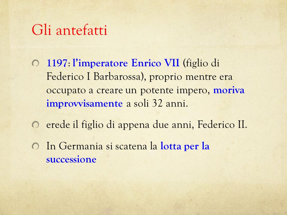 1198 : solo alcuni mesi più tardi anche il decrepito papa Celestino III (1191-1198) moriva.