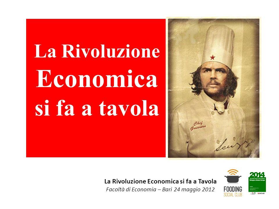 La Rivoluzione Economica si fa a Tavola Facoltà di Economia – Bari 24 maggio 2012 La Rivoluzione Economica si fa a tavola