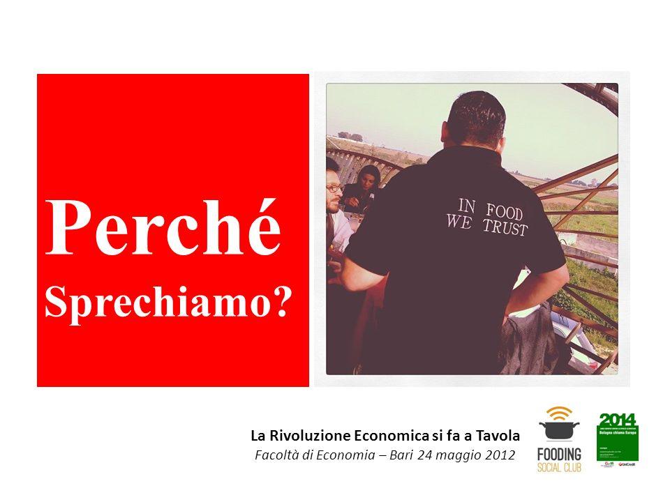 La Rivoluzione Economica si fa a Tavola Facoltà di Economia – Bari 24 maggio 2012 Perché Sprechiamo?