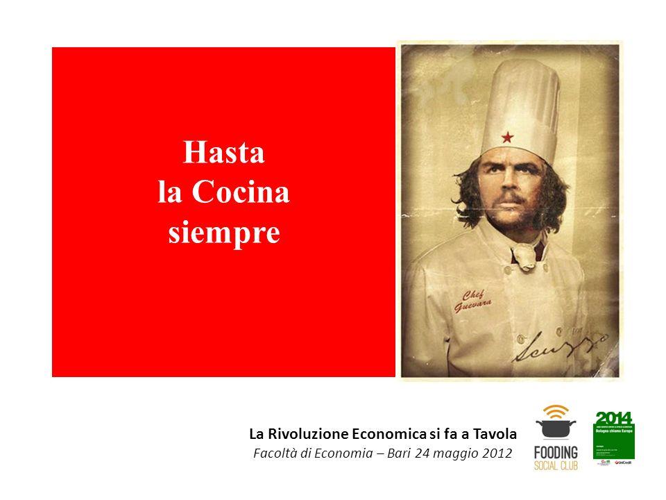 La Rivoluzione Economica si fa a Tavola Facoltà di Economia – Bari 24 maggio 2012 Hasta la Cocina siempre