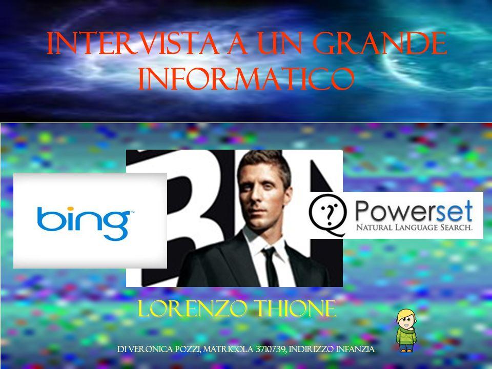 Intervista a un grande informatico