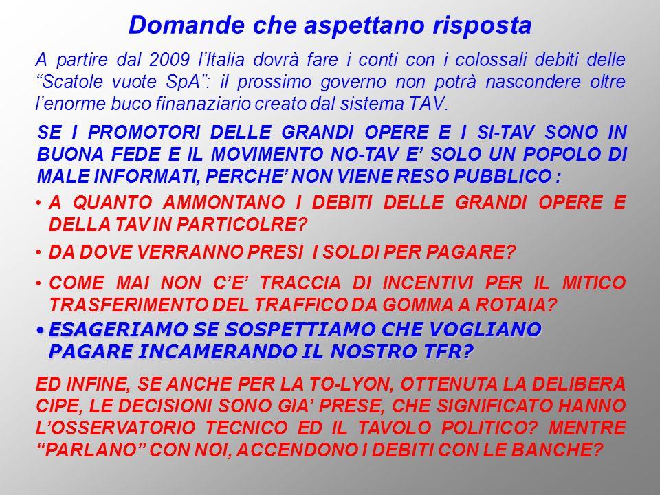 A partire dal 2009 lItalia dovrà fare i conti con i colossali debiti delle Scatole vuote SpA: il prossimo governo non potrà nascondere oltre lenorme b
