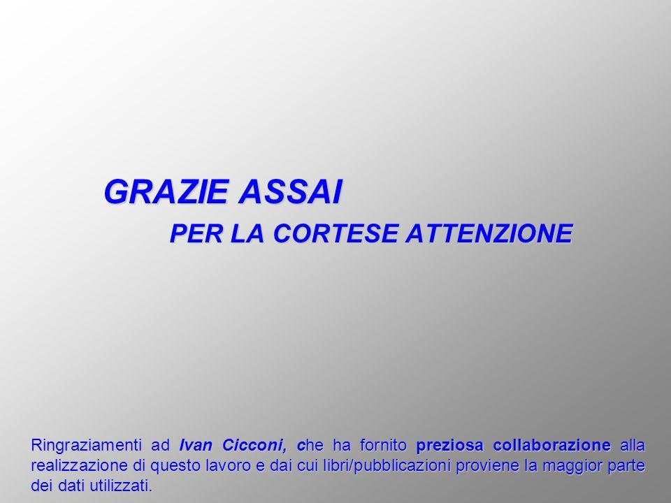 GRAZIE ASSAI PER LA CORTESE ATTENZIONE Ringraziamenti ad Ivan Cicconi, che ha fornito preziosa collaborazione alla realizzazione di questo lavoro e da