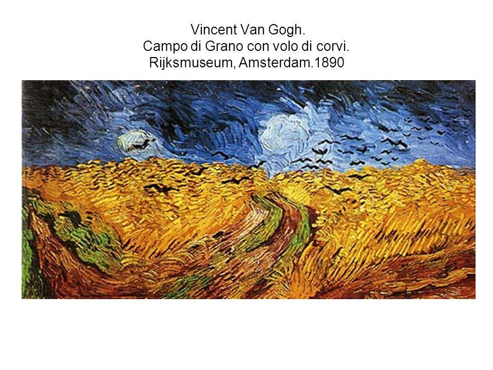Vincent Van Gogh. Campo di Grano con volo di corvi. Rijksmuseum, Amsterdam.1890