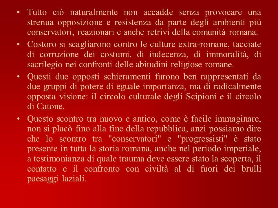 Tutto ciò naturalmente non accadde senza provocare una strenua opposizione e resistenza da parte degli ambienti più conservatori, reazionari e anche retrivi della comunità romana.