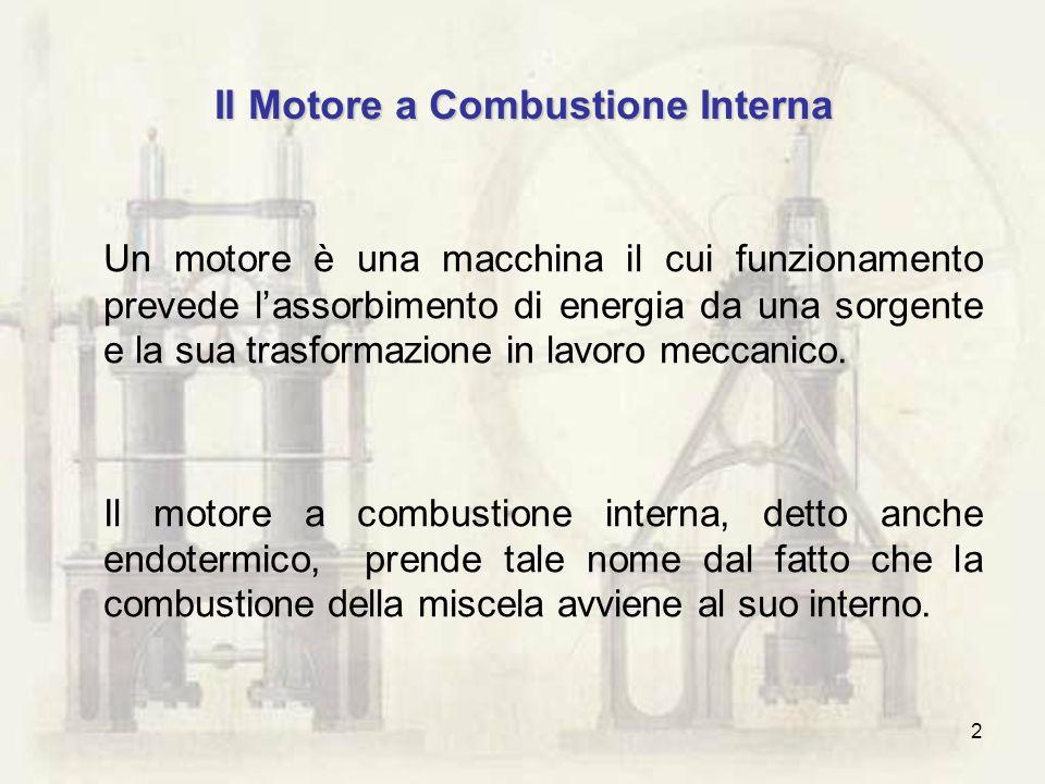 2 Il Motore a Combustione Interna Un motore è una macchina il cui funzionamento prevede lassorbimento di energia da una sorgente e la sua trasformazio