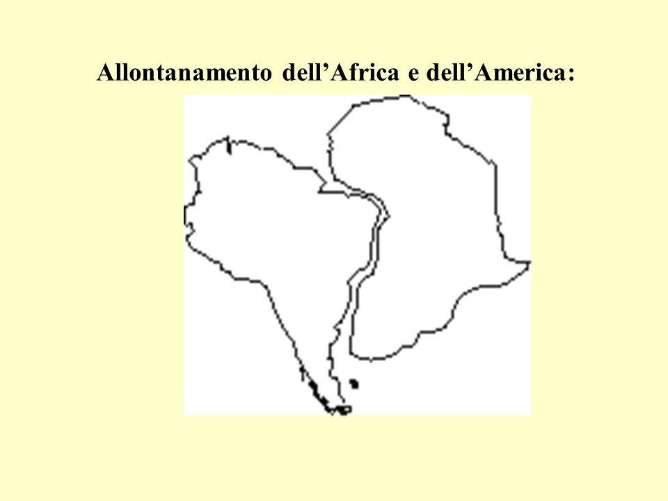 Allontanamento dellAfrica e dellAmerica: