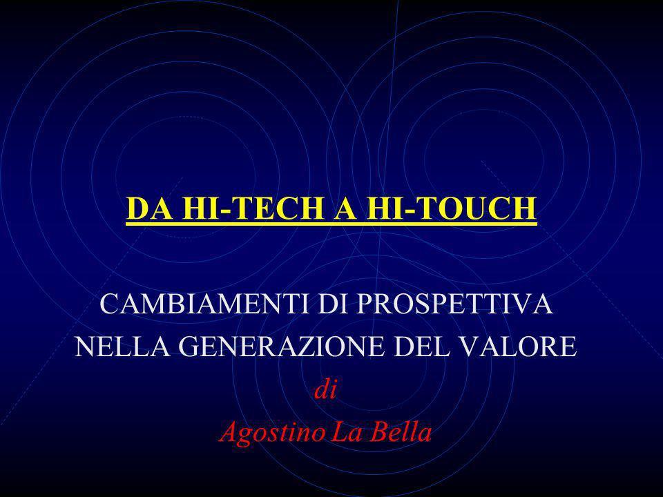 DA HI-TECH A HI-TOUCH CAMBIAMENTI DI PROSPETTIVA NELLA GENERAZIONE DEL VALORE di Agostino La Bella