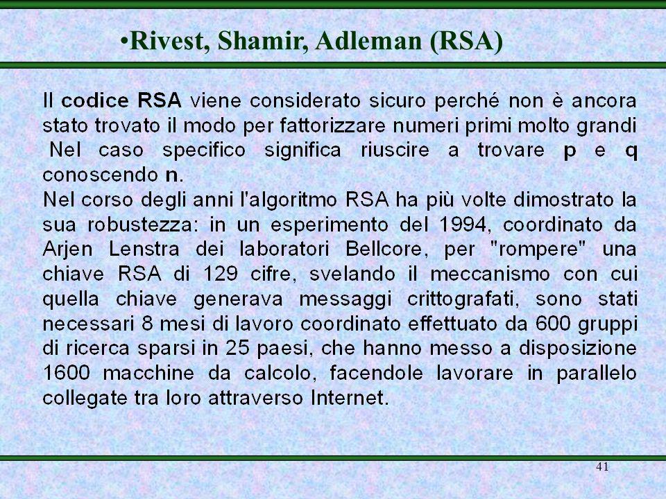 40 RSA … altro esempio