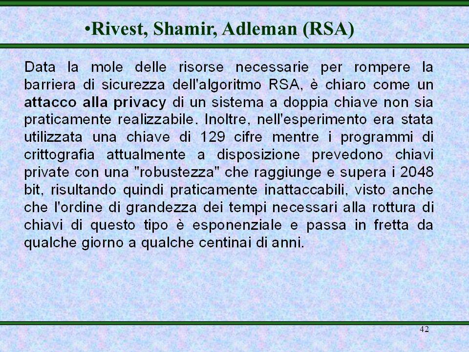 41 Rivest, Shamir, Adleman (RSA)
