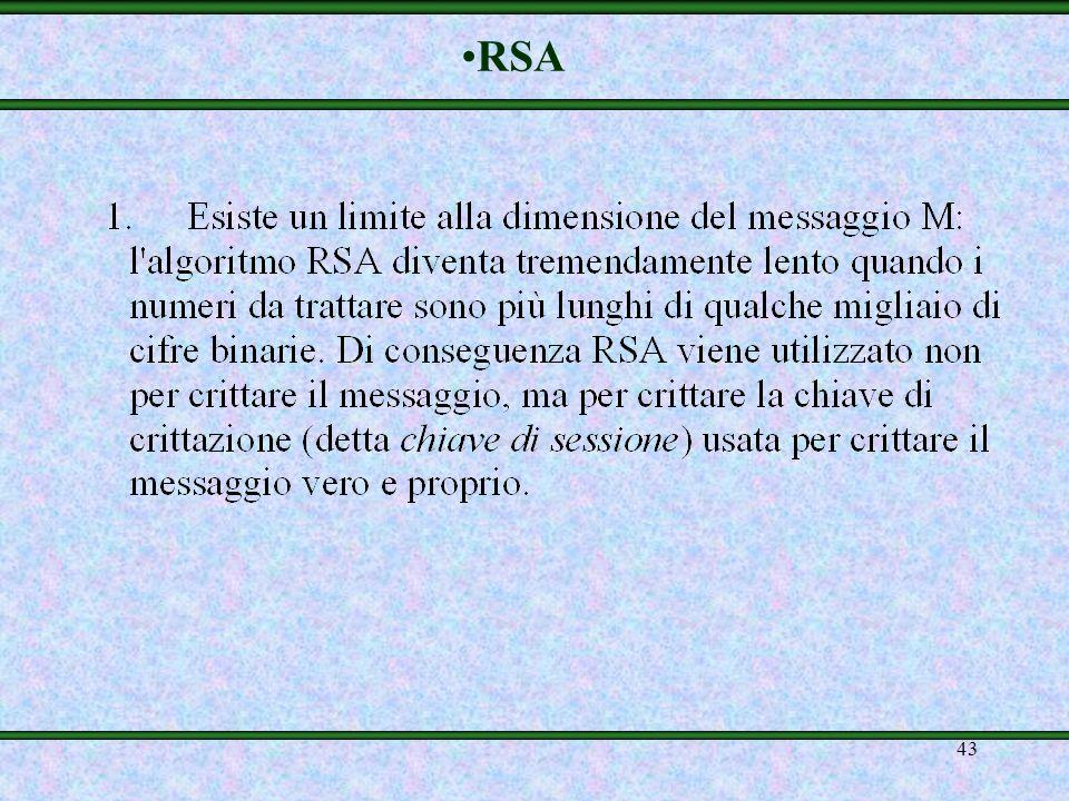 42 Rivest, Shamir, Adleman (RSA)