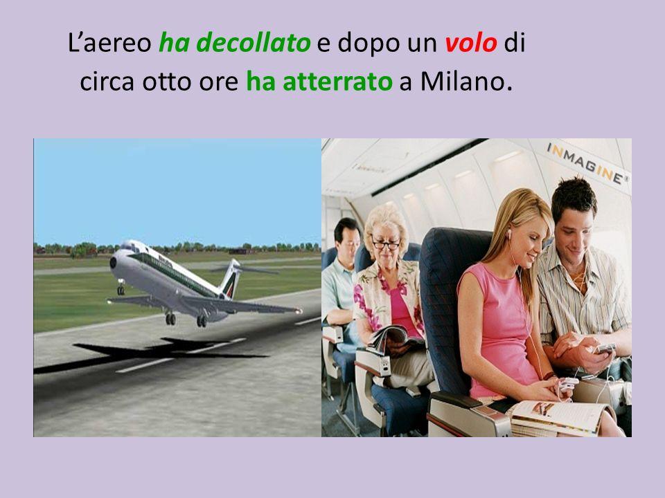 Laereo ha decollato e dopo un volo di circa otto ore ha atterrato a Milano.