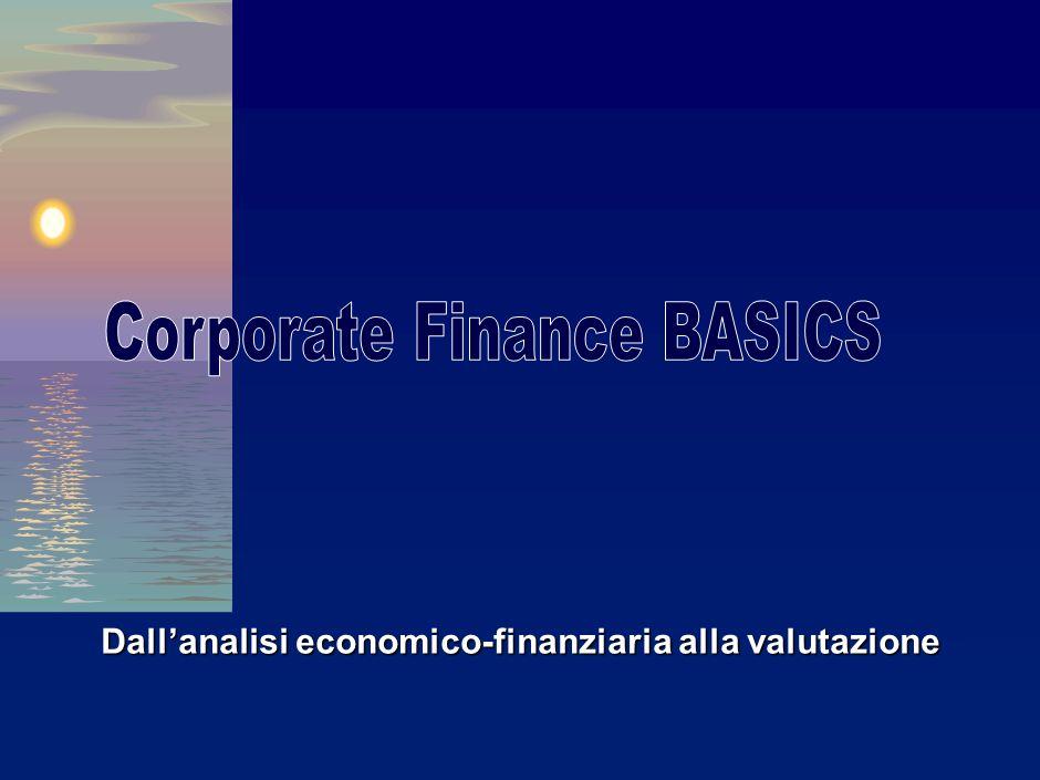 Dallanalisi economico-finanziaria alla valutazione