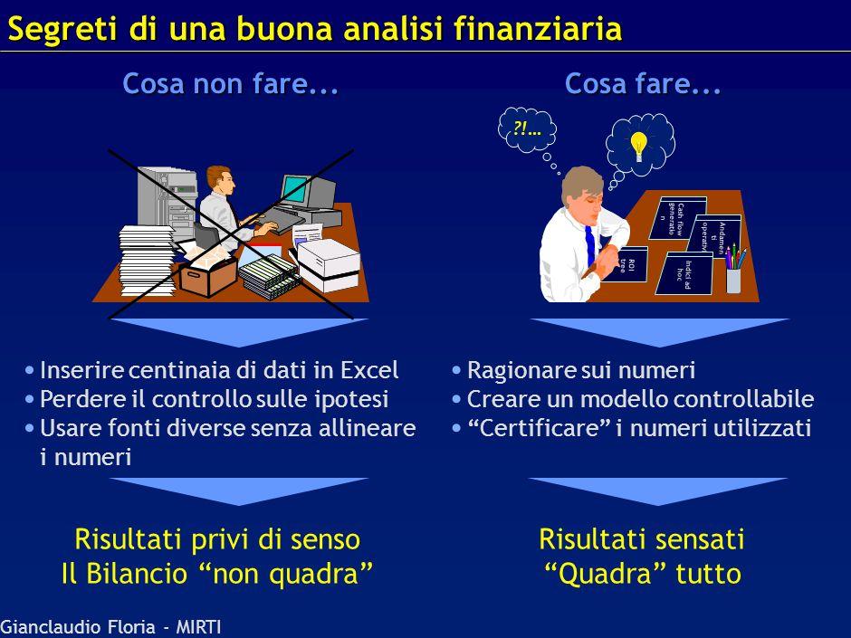 Gianclaudio Floria - MIRTI Valutazione Agenda Analisi Finanziaria