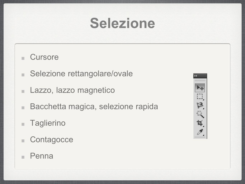 modifica Cerotto Pennello Clone Pennello storico Gomma Gradiente, secchiello Sfuma, distorci...
