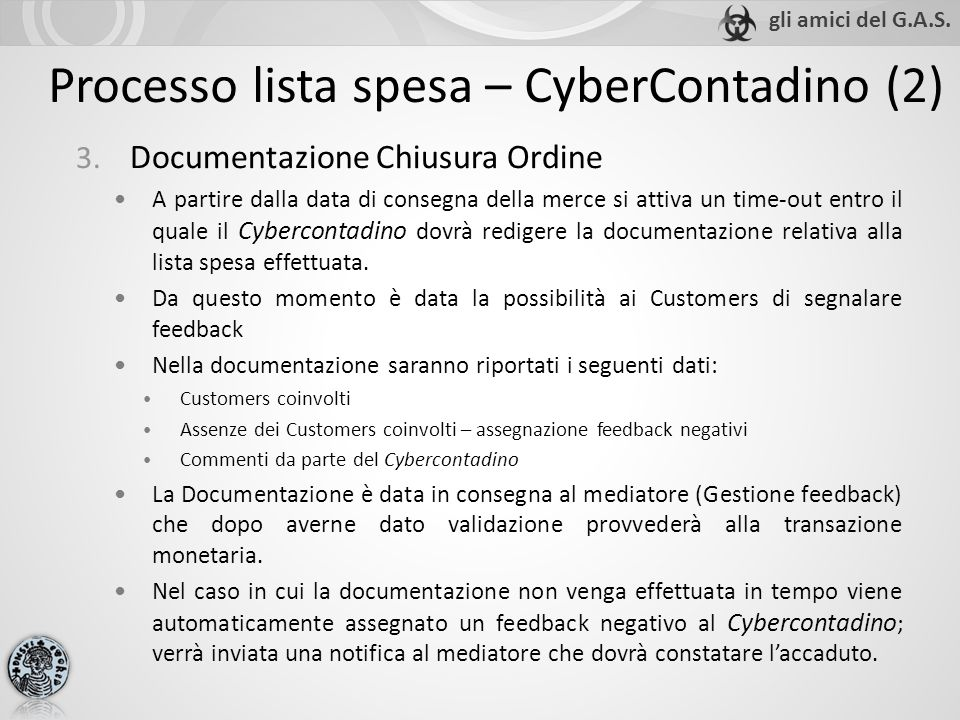 Processo lista spesa – CyberContadino (2) 3.