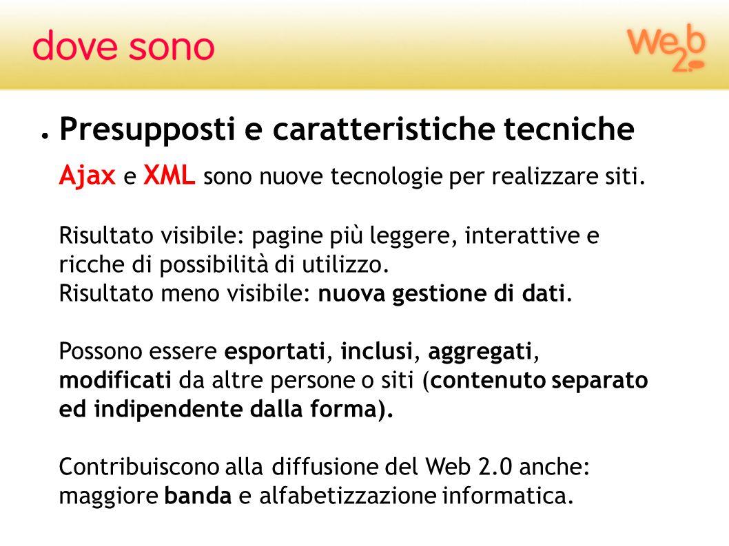 Ajax e XML sono nuove tecnologie per realizzare siti. Risultato visibile: pagine più leggere, interattive e ricche di possibilità di utilizzo. Risulta